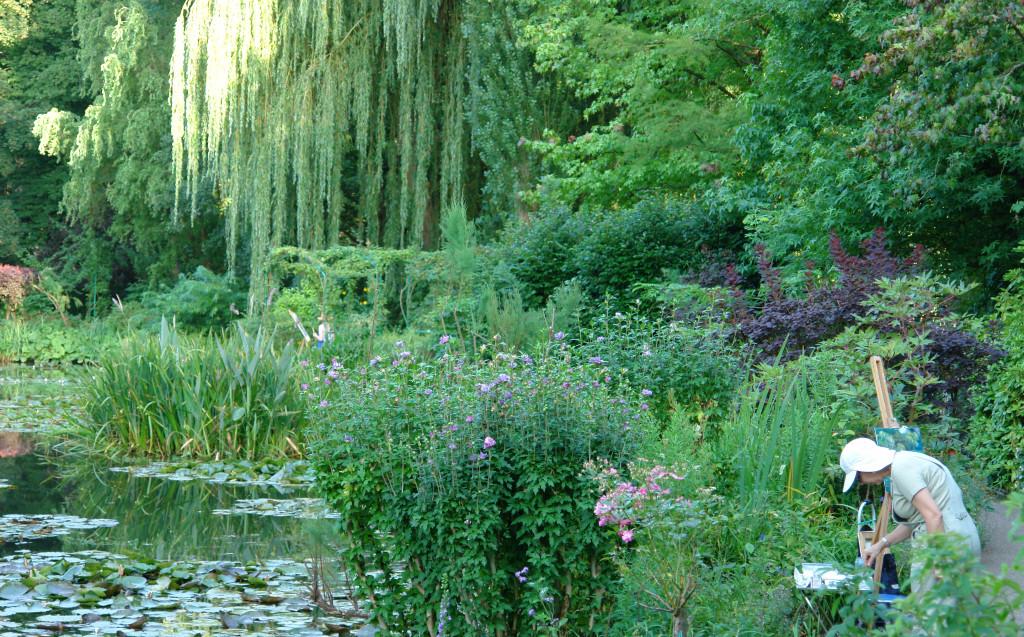 Pintando en los jardines de Monet